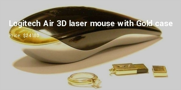 logitech air 3d laser mouse with gold case