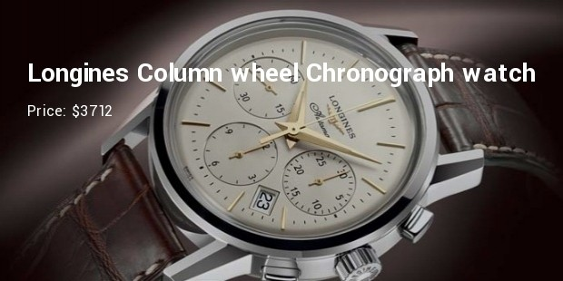 longines column wheel chronograph watch