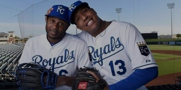 lorenzo cain and salvador perez