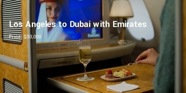 los angeles to dubaiwith emirates for upwards of $30,000