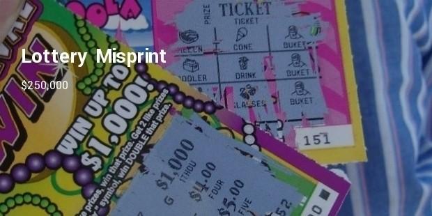 lottery misprint