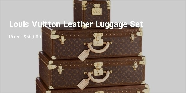 louis vuitton leather luggage set