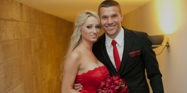 lukas podolski and his wife monika