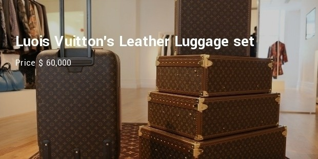 luois vuittons leather luggage set