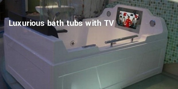 luxurious bath tubs with plasma tv