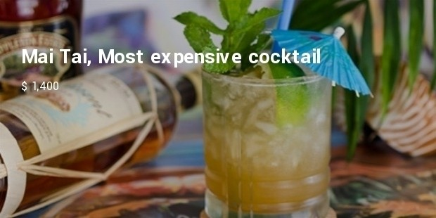 mai tai, most expensive cocktail