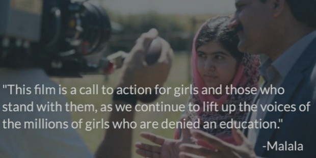malala fund film call to action