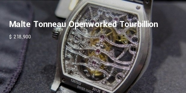 malte tonneau openworked tourbillion