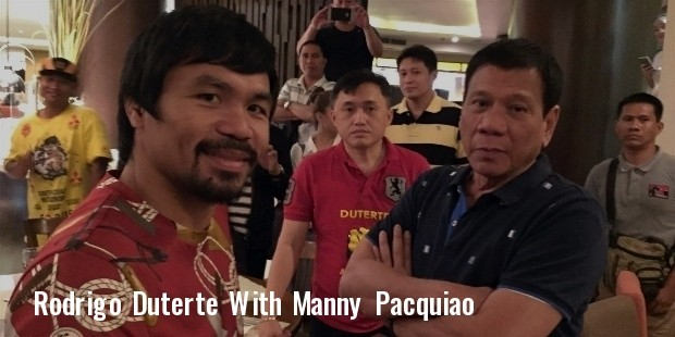 manny pacquiao meets with davao city mayor rodrigo duterte