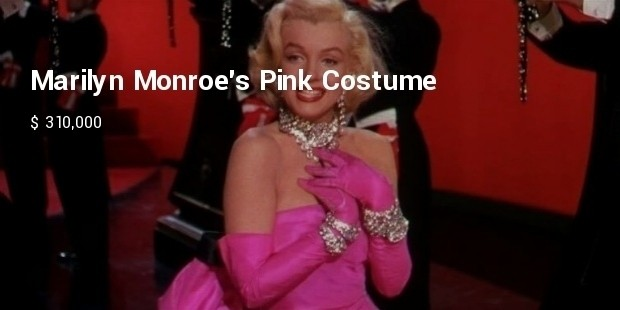 marilyn monroe pink costume from gentlemen prefer blondes