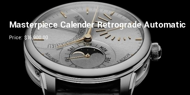 masterpiece calender retrograde automatic