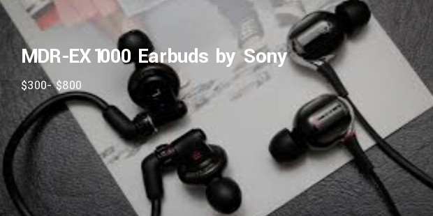 mdr ex1000 earbuds by sony   $300  $800