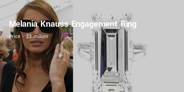 melania knauss engagement ring