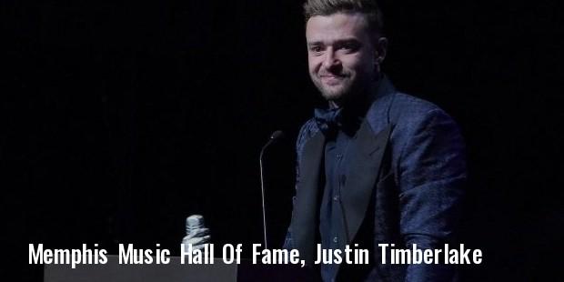 memphis music hall of fame, justin timberlake