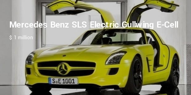 mercedes benz sls electric gullwing e cell
