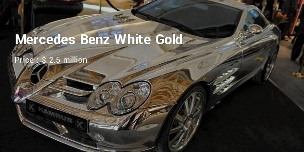 mercedes benz white gold