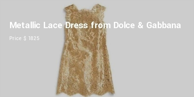 metallic lace dress from dolce   gabbana baby clothes