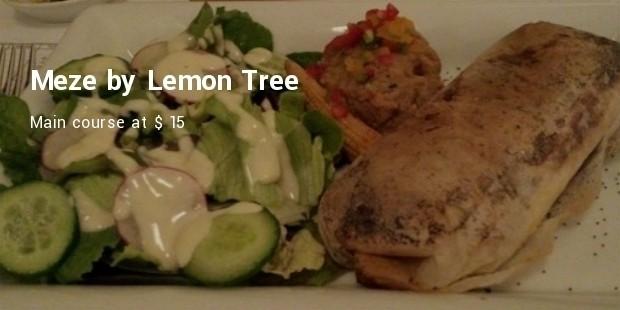 meze by lemon tree  main course
