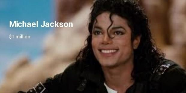 michael jackson  $1 million