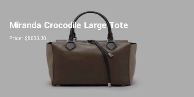 miranda crocodile large tote