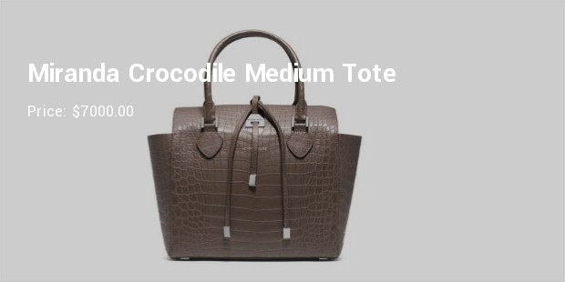 miranda crocodile medium tote