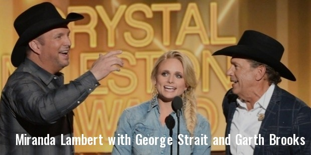 miranda lambert, george strait, garth brooks