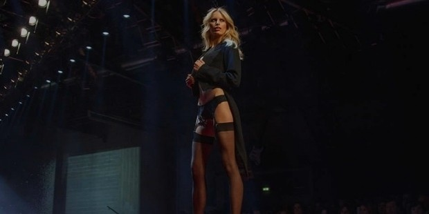 model karolina kurkova walks the runway at the yamamay show during milan fashion week