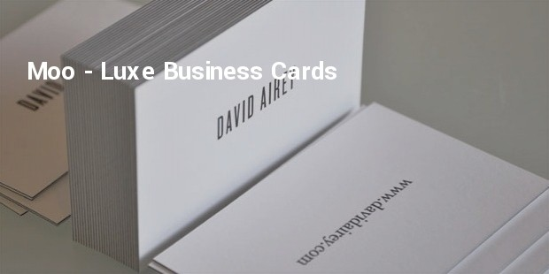 moo  luxe business cards