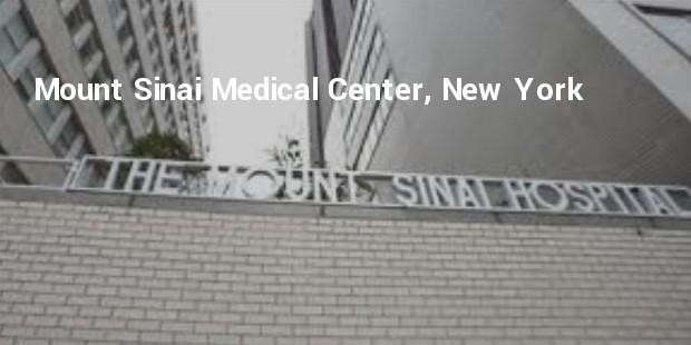 mount sinai medical center, new york