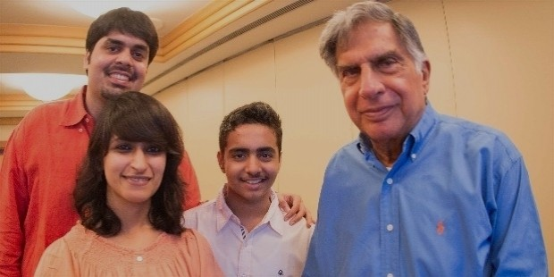 mr. ratan tata with the kite fittle.