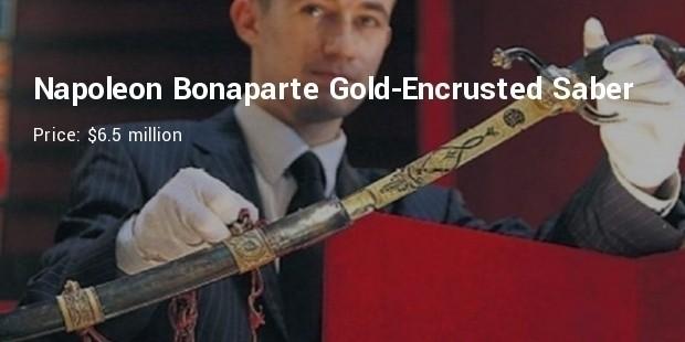 napoleon bonaparte gold encrusted saber