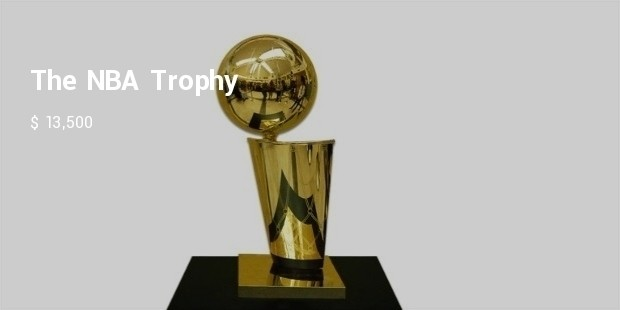 This Is The Biggest Basketball Prize And Has Been Named After Larry OBrien 145pounds Silver A 24 Karat Gold Overlay With Nine Inch