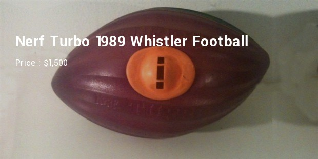 nerf turbo 1989 whistler football