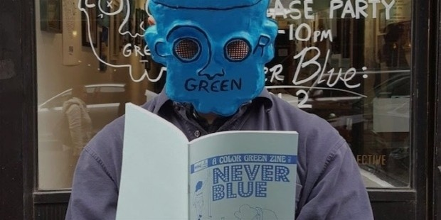 never blue zine