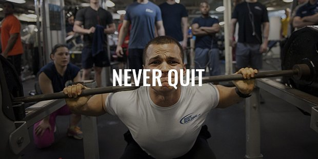 Never quit without putting
