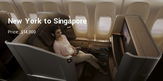 new york to singaporewith singapore airlines for upwards of $14,000