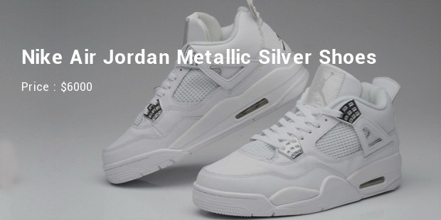 nike air jordan silver shoes