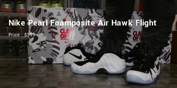 nike pearl foamposite air hawk flight