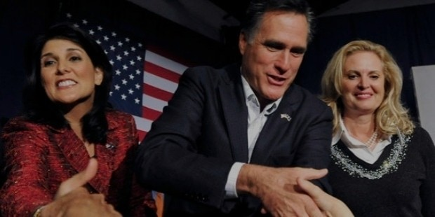nikki haley, mitt romney and his wife ann romney