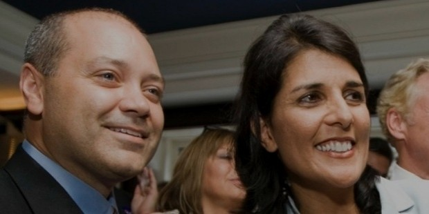 nikki haley reacts along with her husband michael