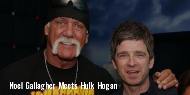 noel gallagher met his wrestling hero hulk hogan