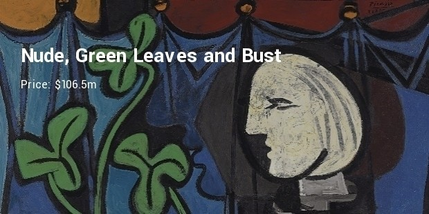 nude, green leaves and bust pablo picasso