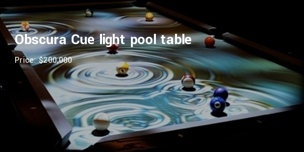 Obscura Cue light pool table - $200,000