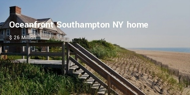 oceanfront southampton ny home for $ 26 million