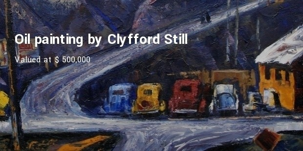 oil painting by clyfford still
