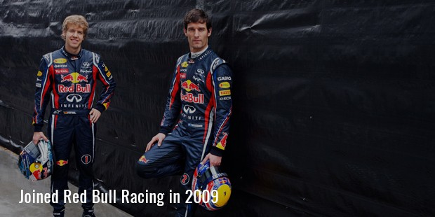 oined red bull racing in 2009
