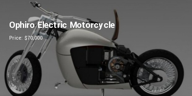 ophiro electric motorcycle   $70,000