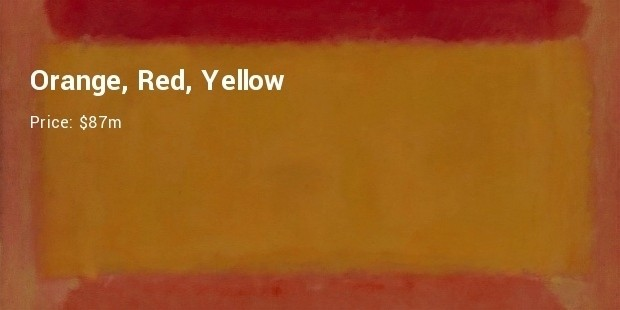 orange, red, yellow mark rothko