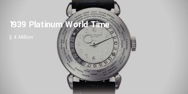 patek philippe, 1939 platinum world time