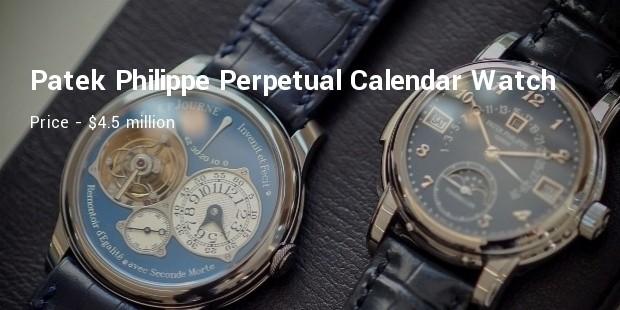patek philippe stainless steel perpetual calendar wristwatch